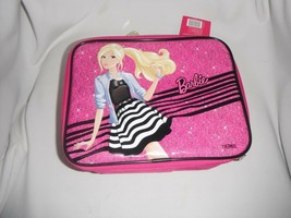barbie thermos insulated lunch tote new with tags 10 x 7 inch - $7.69