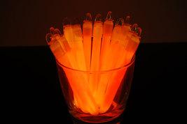 4 inch Premium Orange Glow Sticks with Lanyards- 50 Count  - $18.95