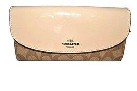 Coach Signature Slim Envelope Wallet (Khaki / P... - $121.76