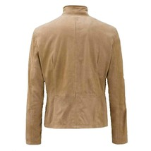 Mens James Bond Spectre Blouson Morocco Brown Suede Leather Jacket image 2