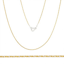 925 Sterling Silver 14k Yellow Gold Plated Snake Solid Link Chain Necklace Italy - $12.48+