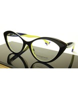 Face A Face Bocca Tatoo 1 Col. 2115 Ink Blue Anis Yellow Eyeglasses Ital... - $336.52