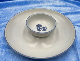 Pfaltzgraff Yorktowne Chip and Dip Serving Dish Tray with Salsa / Dip Bowl - $34.65