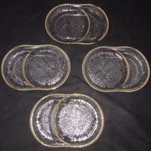 Vtg Set of 4 Jeannette Glass Harp Pressed Glass Ashtray/Coaster - $14.36