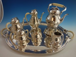 Blossom by Yvar Peterson Sterling Silver Coffee Tea Set 7pc (#1549) Calla Lily - $19,500.00
