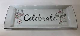 """Celebrate"" Christmas Rectangular Platter (Food Network -Eat Drink & Be Merry) - £17.98 GBP"