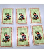6 Elf Watering Garden Playing Cards for Crafting, Re-purpose, Up-cycle, ... - $1.80