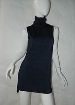 AG Adriano Goldschmied Dress Blue Tunic Turtleneck Sleeveless Indigo Sz ... - $37.25