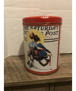 Vintage The Saturday Evening Post Candy Tin - $12.86