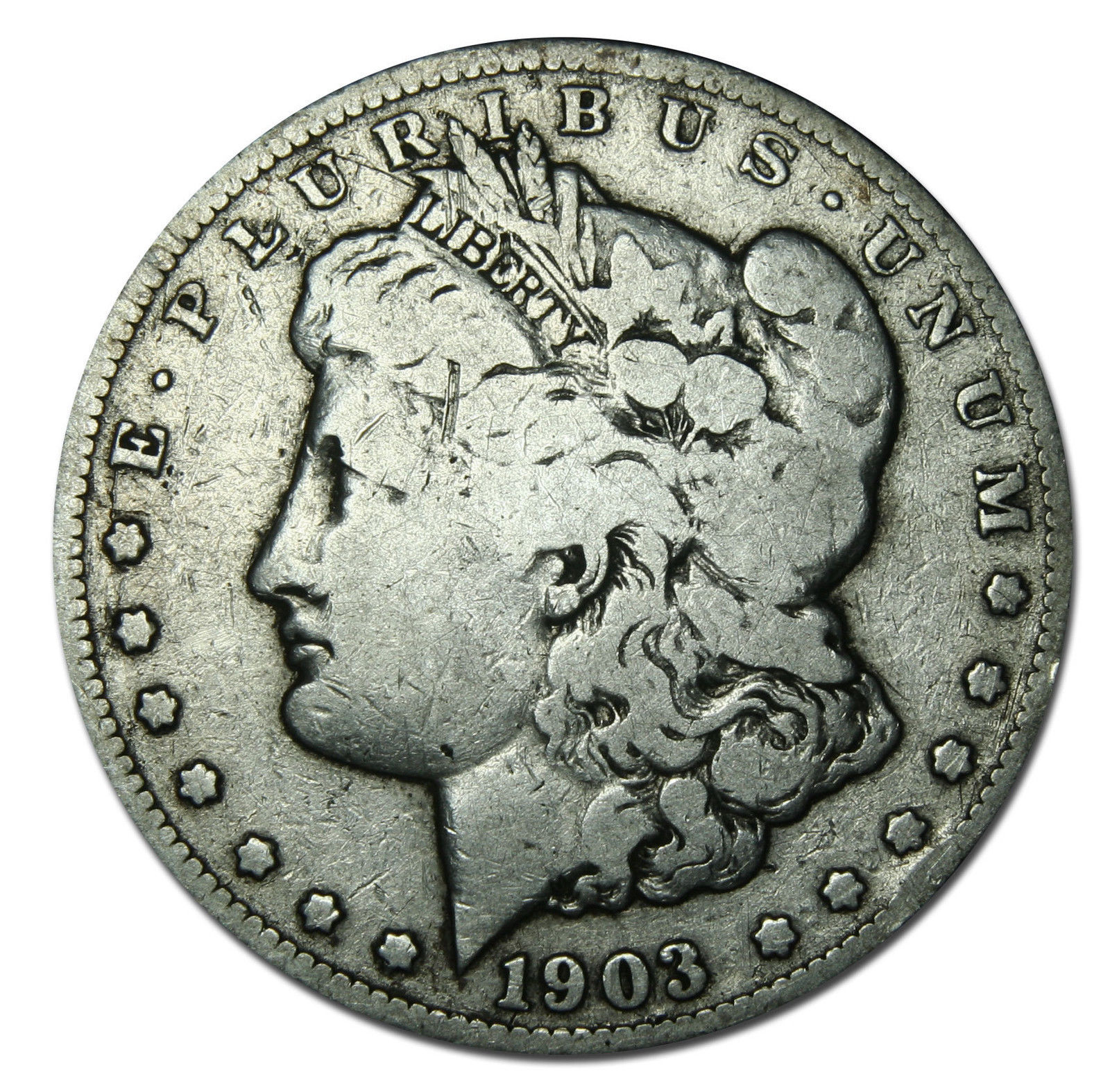 1903S MORGAN SILVER DOLLAR COIN Lot# MZ 2872