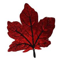 Panda Legends 10 Pcs Red Maple Leaf Embroidered Applique Crafting Making... - $16.89