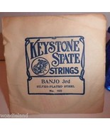 1 Vintage Keystone State Banjo 3rd Silverplated Steel Strings - $3.97