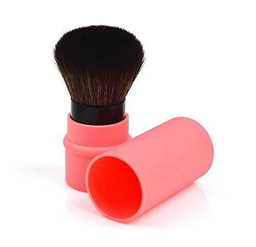 Retractable Blush Brush Protable Cosmetic Cheek Brush, Orange