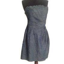 Romeo & Juliet Couture large blue denim Chambray dress L Smocked - $36.00