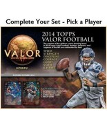 2014 Topps Valor Football Singles - Pick a Player - We Combine Economy Ship - $0.99