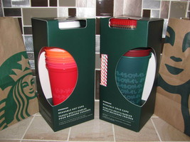 STARBUCKS Reusable Cups Cold and Hot with Lids 16 and 24 oz - $47.49