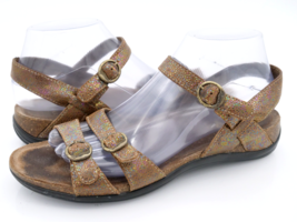 Dansko Womens 8.5 Brown Animal Print Leather Wedge Slingback Sandals EUR 39 - $29.99