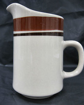 Carousel Stoneware Creamer Sauces Pitcher Container #804 Sienna Design - $15.95