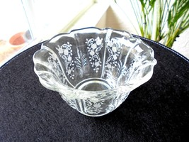 Fostoria Meadow Rose Pattern Mayonnaise Bowl c1936-1975 - $34.99