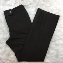 Ann Taylor Women's Dark Brown Career Work Lined Dress Pants Size 4 - $21.77