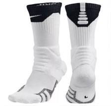 NIKE NikeGrip Power Basketball Crew Socks sz M Medium (6-8) White Black ... - $24.49