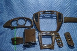 01-07 Toyota Highlander Woodgrain Dash Trim Kit Vents Console 8pc image 2