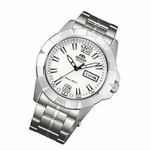Orient Men's Automatic Watch FEM7L005W9 White Dial Silver Linked Bracelet - $181.16