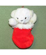 VINTAGE APPLAUSE CHRISTMAS TEDDY STOCKING FLIP PLUSH STUFFED ANIMAL 1986... - $38.61