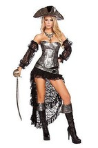 Sexy Roma Deadly Pirate Captain Halloween Costume W/WO EXTRAS S M L 4572 - $99.00+