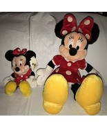 "Disney World Minnie Mouse Red Polka Dot Plush 18"" + Mini Doll Girls Gift... - $20.78"
