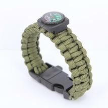 Survival Bracelets with Fire Starter Outdoor Self-rescue - One item (Color vary) image 4