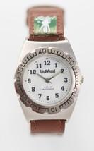 Safari Women's White Dial Silver tone Case Brown Leather Band Quartz Watch - €23,32 EUR