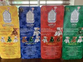 McDonalds Beanie Babies Erin, Maple, Glory and Britannia. Never opened - $200.00