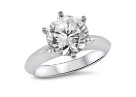 3Ct Round Moissanite Forever One Tiffany Knife Edge Engagement Ring 14K Gold - €1.557,13 EUR