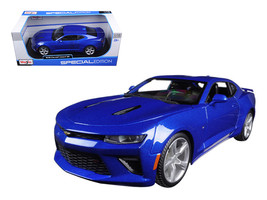 2016 Chevrolet Camaro SS Blue 1/18 Diecast Model Car by Maisto - $52.78