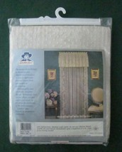 """Quaker Lace FIONA Window Panel Curtain 58"""" x 63"""" New Vintage USA Polyester - $11.88"""