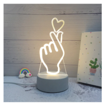 3D LED Lamp Creative Night Lights Novelty Night Lamp Table Lamp For Home 1 - $12.50