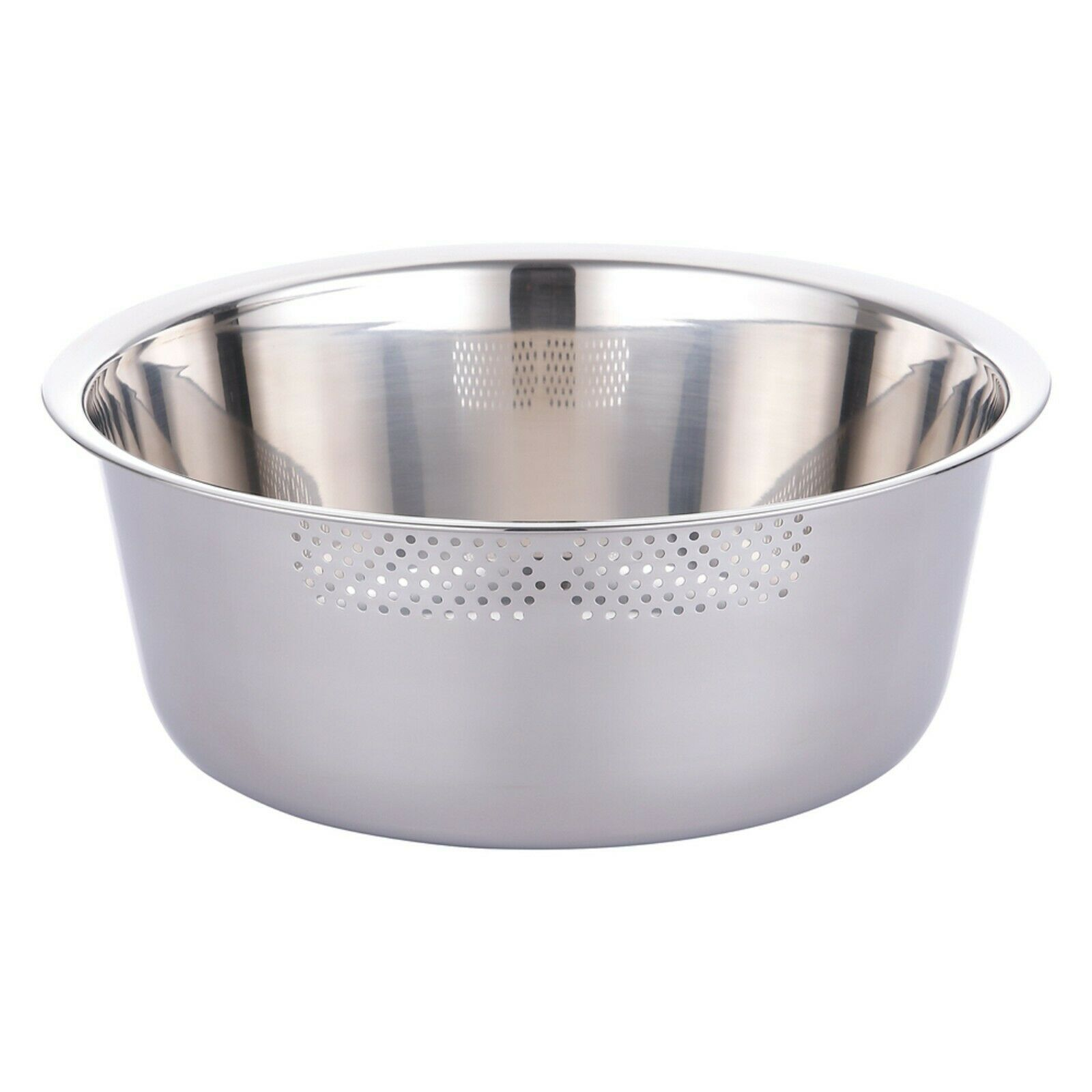Kitchen Flower Round Stainless Steel Dishpan Basin Bucket Dish Washing up Bowl