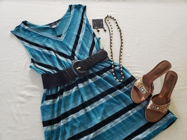 Casual Sleeveless Dress For Plus Size Women  - $25.00