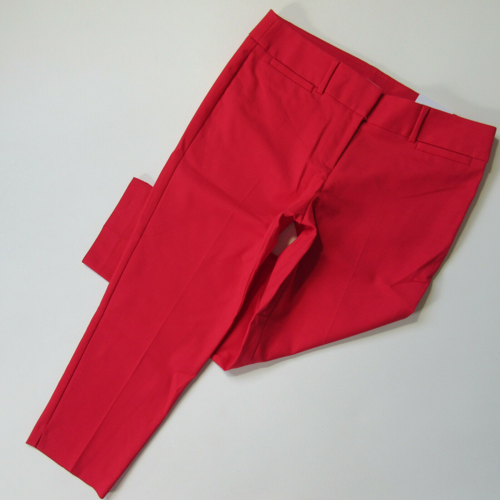 Primary image for NWT Ann Taylor LOFT Marisa Riviera in Watermelon Red Stretch Cotton Crop Pants 8