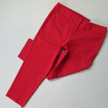 NWT Ann Taylor LOFT Marisa Riviera in Watermelon Red Stretch Cotton Crop... - $27.55