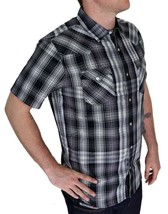 Levi's Men's Classic Casual Button Up Plaid Grey Shirt 3LYSW0182-Gry image 2