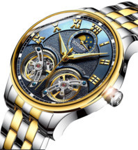 Automatic Mechanical Luxury Skeleton Tourbillon Swiss Wrist Sapphire Wat... - £154.24 GBP
