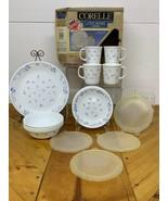 Vintage Corning Corelle Provincial Blue Livingware  NEw In Box 16pc Dish... - $93.49