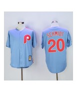 New Men Philadelphia Phillies 20 Mike Schmidt Light Blue Throwback Baseball Jers - $43.00