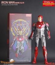 Crazy Toys Marvel Ironman Mark XLVII Mk47 1/6 scale Iron Man PVC Statue ... - €73,86 EUR