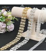 TOPQUEEN S414 Wedding Bridal Belt White Organza Sash with Gold Rhineston... - £9.99 GBP