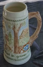 Beautifully Hand Painted Ceramic Stein - VGC - Signed - Dated 1977 - DET... - $34.64