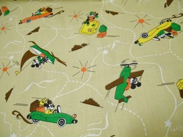 "Disney Mickey & Minnie Mouse Vintage Fabric Holiday Travel Voyage Theme 44X46"" - $59.95"