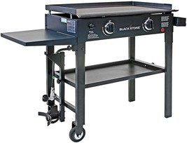 Two Burner Grill Gas Griddle Station Outdoor Restaurant Grade Grill Flat... - $221.75